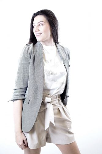 8PM veste Gris femmes (8PM-Blazer lin - ALLENTOWN Blazer gris lin & co) - Marine | Much more than shoes
