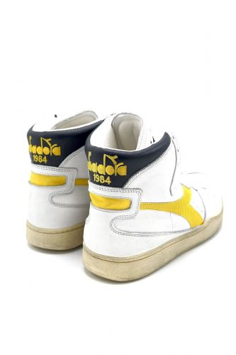 Diadora basket haut Blanc unisex (DIAD-Heritage Mid - 158569 MID blanc /noir&jaune) - Marine | Much more than shoes