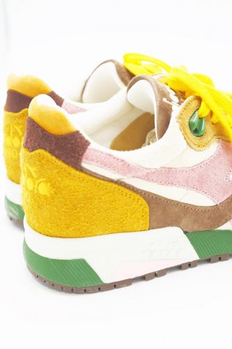Diadora basket bas Multicolor femmes (DIAD-Heritage women - LEONE runner brun/jaune/rose) - Marine | Much more than shoes