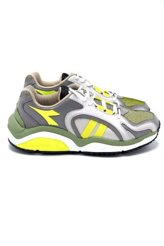 Diadora basket bas Jaune unisex (DIAD-SPORT technic - WHIZZ 370 Kaki + jaune fluo) - Marine | Much more than shoes