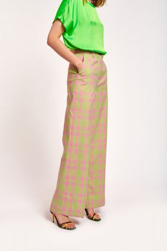 Essentiel Antwerp pantalon Rose femmes (Pantalons tartan - WHOEVER pant carreaux rose/ver) - Marine | Much more than shoes