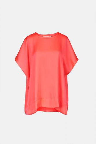 Essentiel Antwerp top Corail femmes (Top droit oversize - WUCCULENT hot Pink fluo) - Marine | Much more than shoes