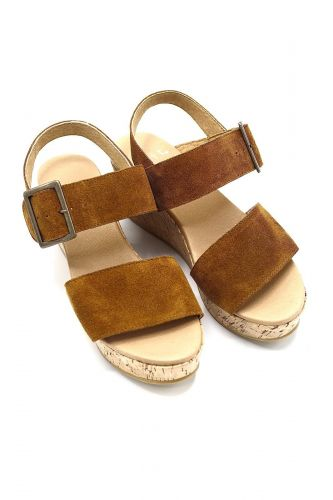 Exit sandale Naturel femmes (EX-Sandale bouchon - SUDIKA Sandale nubuk camel sem) - Marine | Much more than shoes