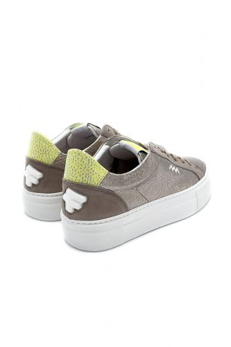 Floris Van Bommel Femme basket bas Taupe femmes (FVBW-Bloc unie métal - 85333/03 Sneakers Métal taupe) - Marine | Much more than shoes