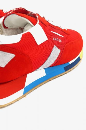Ghoud basket bas Rouge hommes (GHOUD-Runner Men - RMLM ROUGE/silver) - Marine | Much more than shoes