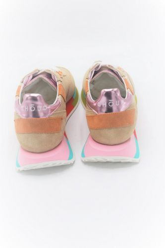 Ghoud basket bas Beige femmes (GHOUD-Runner semelle multi - RMLW MM31 Beige + orange) - Marine | Much more than shoes