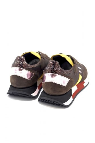 Ghoud basket bas Brun-multi femmes (GHOUD-Runner semelle multi - RML-05 brun + //orangé) - Marine | Much more than shoes