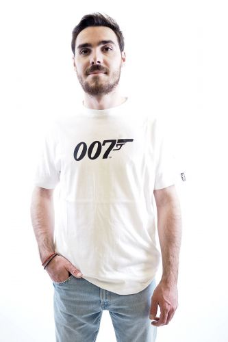 Hero Seven tee-Shirt Blanc hommes (HERO7-TS 007 - E20126 T-Shirt uni blanc logo ) - Marine | Much more than shoes