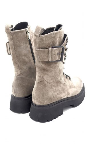 Janet&Janet bottine Taupe femmes (J&J-Biker haute - 46751 Biker taupe haute tige) - Marine | Much more than shoes