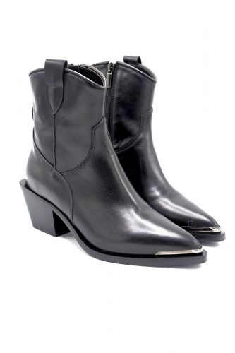 Laura Bellariva boots Noir femmes (LBEL-Santiag pointe metal - 6260 Santiag cuir noir pointe) - Marine | Much more than shoes