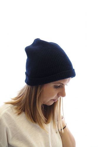 Le Bonnet Amsterdam bonnet Bleu unisex (Bonnet A'DAM-Beanie uni - 7435 Beanie uni Midnight) - Marine | Much more than shoes