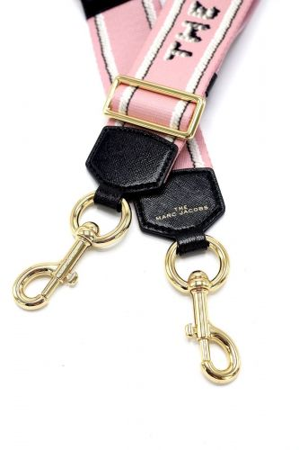 Marc Jacobs  Rose femmes (MJACOBS-Lanière rose - 16596-651 Icing Webbing Strap ) - Marine | Much more than shoes