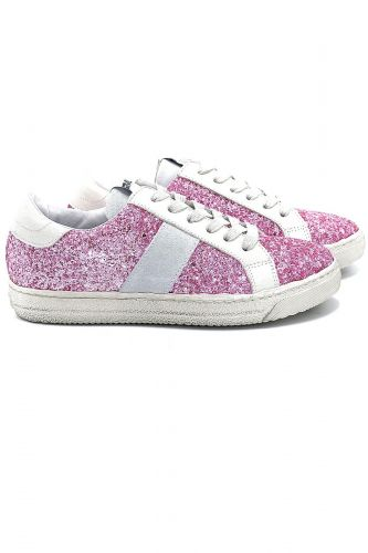 Méliné basket bas Rose femmes (Méli-Basket bas GG Glitter - BUP1329 glitter rose) - Marine | Much more than shoes