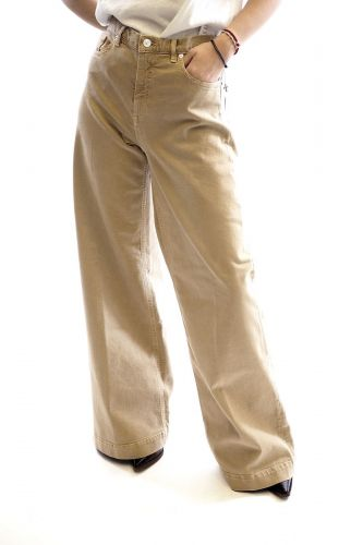 Nine In The Morning pantalon Beige femmes (NINE-Jeans très large - NADIA Jeans super large taupe) - Marine | Much more than shoes