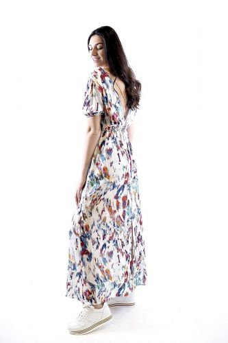 See U Soon robe Multicolor femmes (SUS-Robe motifs - 22825 Robe motifs bleus) - Marine | Much more than shoes