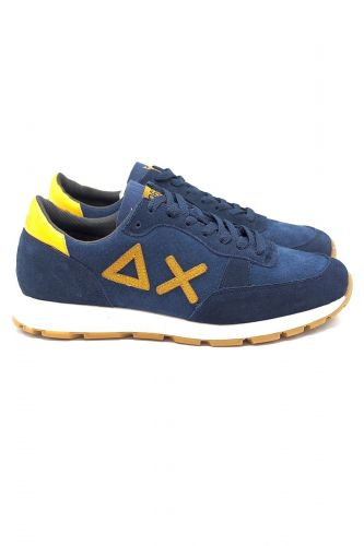 SUN68 basket bas Bleu hommes (SUN68-Runner blu/jaune - Z29113 runner bleu pétrol/ocre) - Marine | Much more than shoes