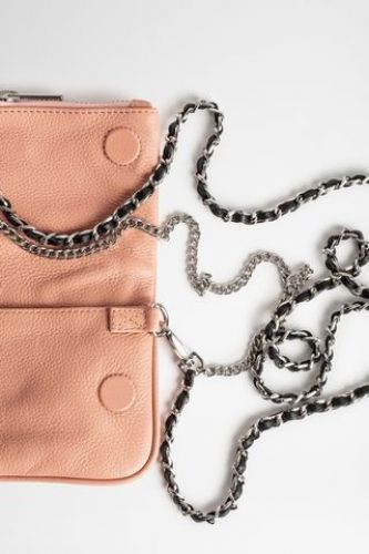 Zadig & Voltaire Accessoires sac Rose femmes (Z&V acc-Pochette MINI - ROCK NANO 2037F Cuir dolly) - Marine | Much more than shoes