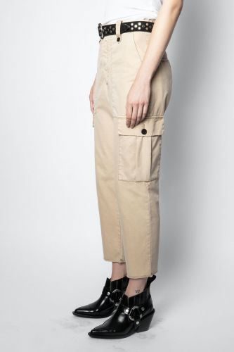 Zadig & Voltaire Vêtements pantalon Beige femmes (Zadig-Pantalon poches - PILOTE Cargo sable) - Marine | Much more than shoes