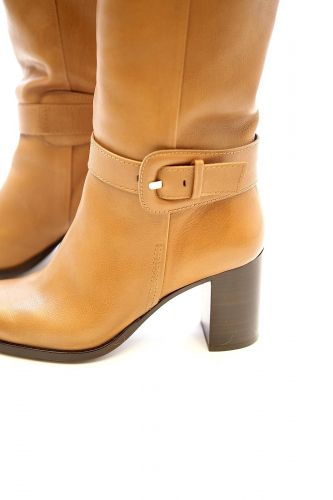Zinda botte Naturel femmes (ZINDA-Botte tube cuir - 1203 Botte tube cuir naturel T) - Marine | Much more than shoes