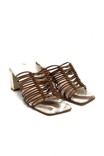 Zinda mule Naturel femmes (ZINDA-Mule mignons - 1282 Mule fines brides cognac ) - Marine | Much more than shoes