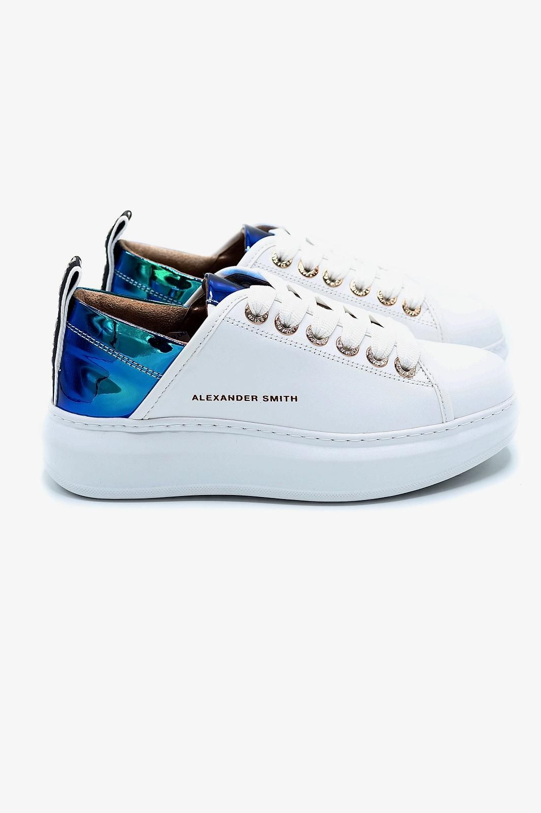 Alexander Smith basket bas Blanc femmes (Alex-Semelle Alex Mc - 102111 Basket blanc contrefort) - Marine | Much more than shoes