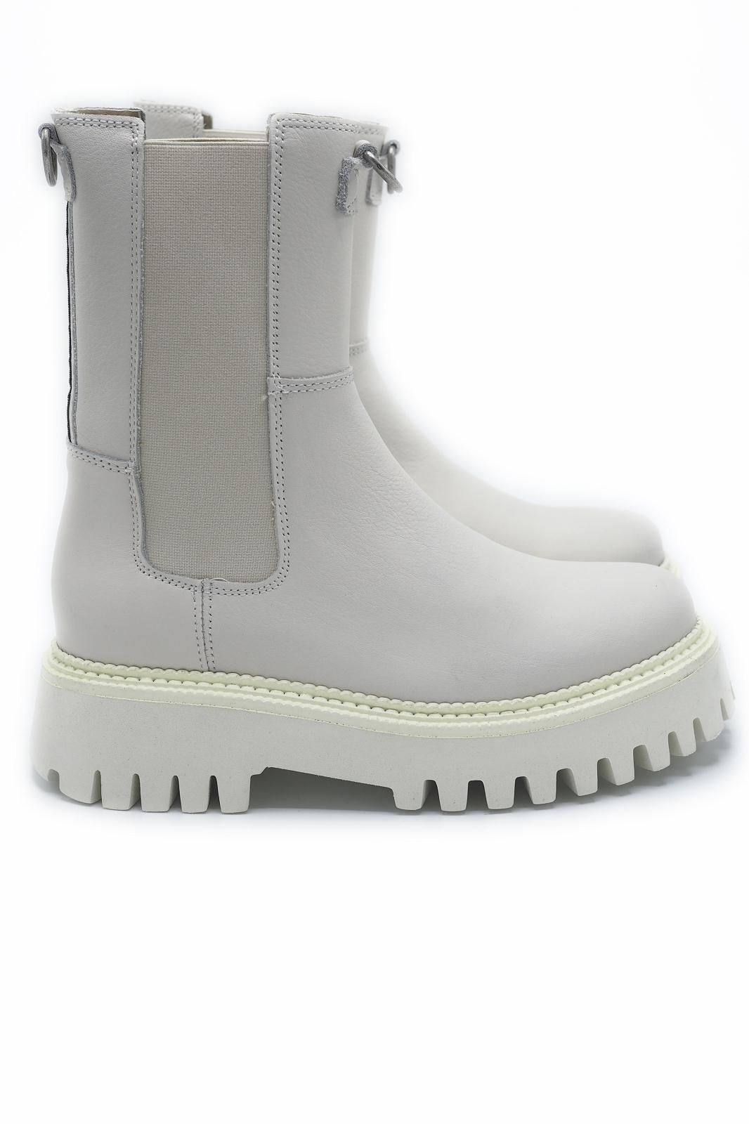 Bronx boots Blanc femmes (BX-Double elastiques - 47268 Boots 2 élastiques cuir ) - Marine | Much more than shoes