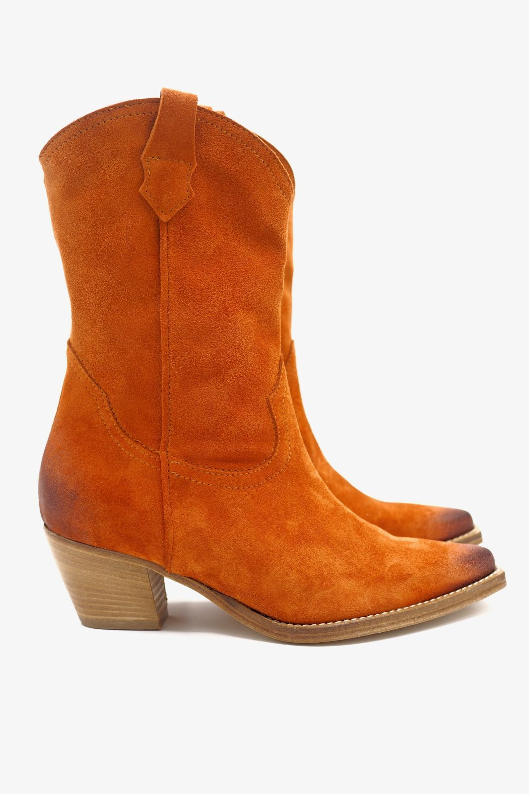 Curiosity boots Orange femmes (CURI-Santiag ½HI - 1555 ½ Tal. botte rouille) - Marine | Much more than shoes