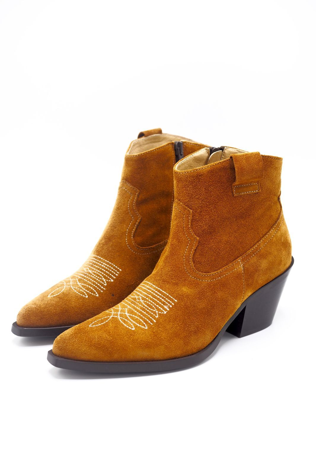 Exit boots Naturel femmes (EX-Santiag - SUBYME Tiag pointue cognac) - Marine | Much more than shoes