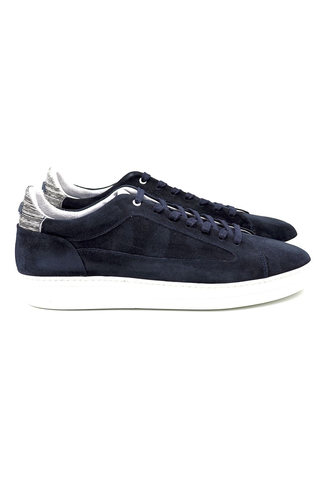 Floris Van Bommel basket bas Bleu hommes (FVB-Sneaker sem bloc - 13265/04 Nub. bleu) - Marine | Much more than shoes