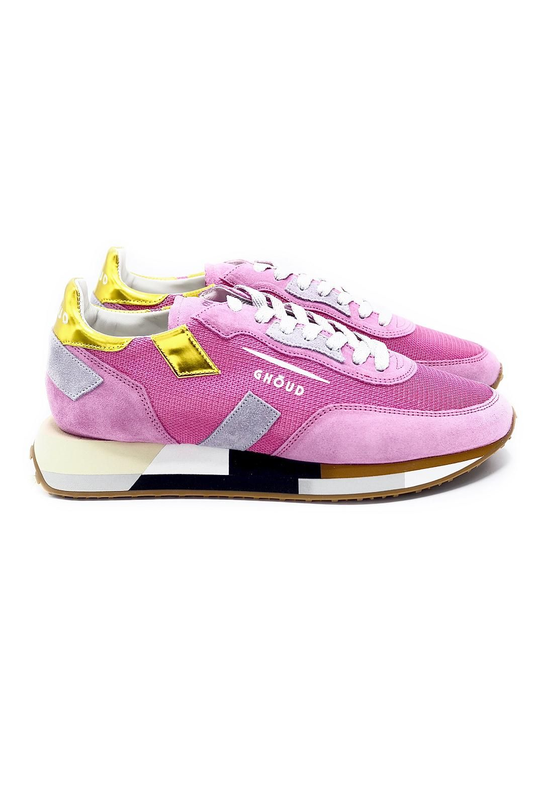 Ghoud basket bas Fuschia femmes (GHOUD-Runner semelle multi - RMLW MM09 Fushia + jaune) - Marine | Much more than shoes