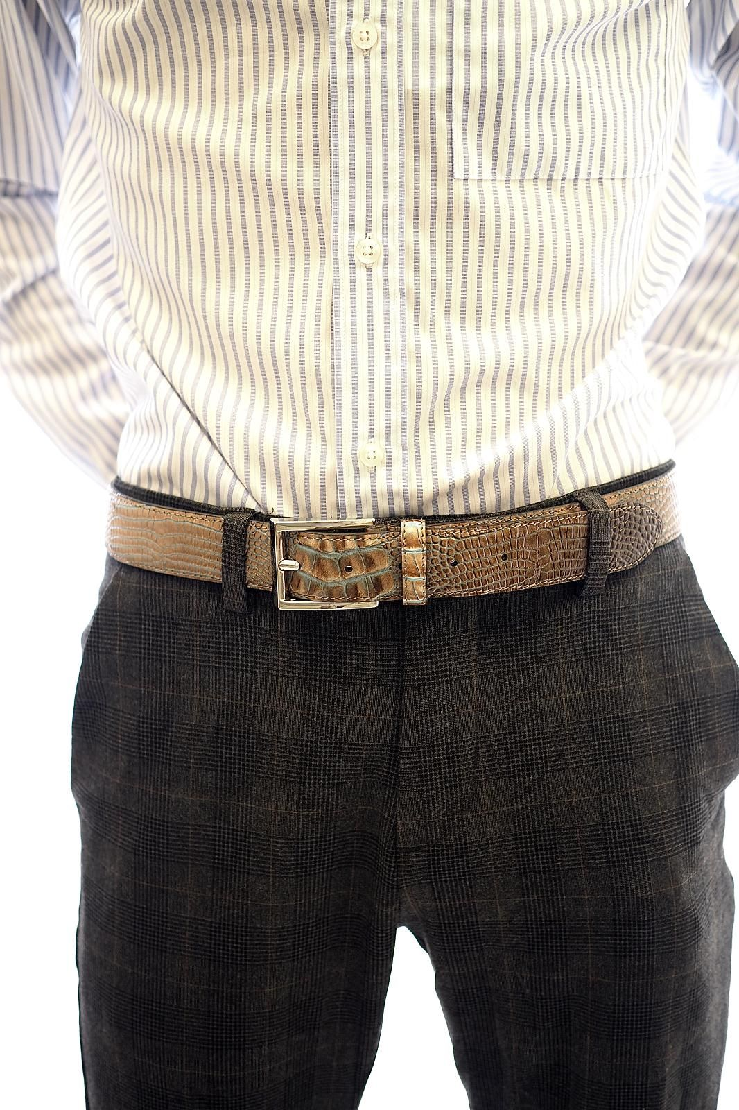 Giorgio 1958 ceinture Naturel hommes (GG1958-Ceinture  - 1023 ceinture 20 snake cognac/) - Marine | Much more than shoes