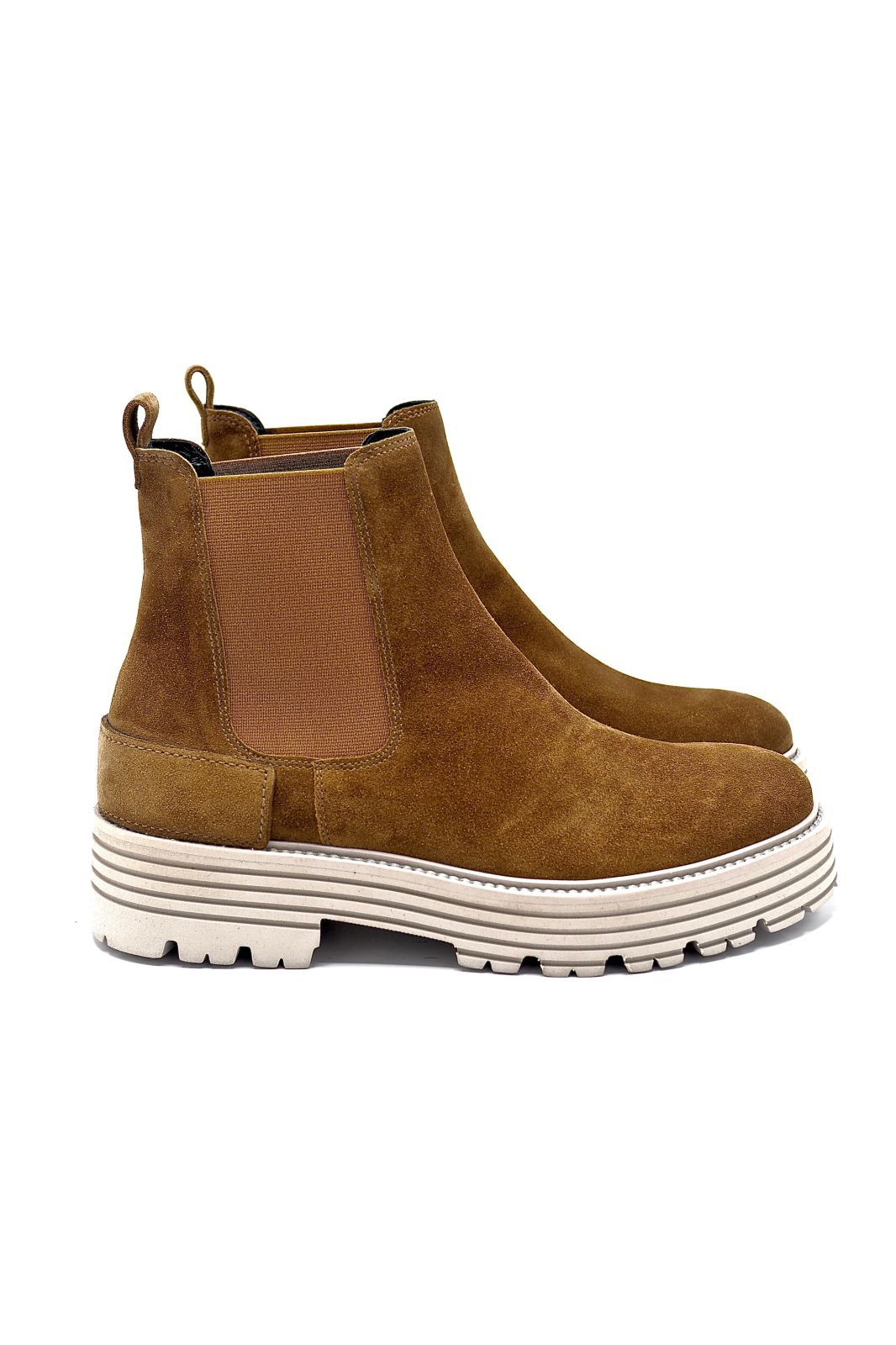 Kennel & Schmenger boots Naturel femmes (K&S-Boots élastiques - 41-34310 boots daim camel) - Marine | Much more than shoes