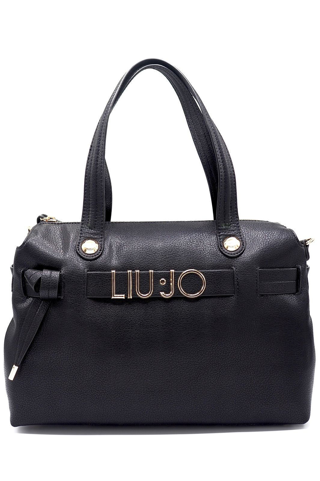 Liu Jo Accessories sac Noir femmes (LJo Acc-Grand sac logo or - AF0116 sac noir) - Marine | Much more than shoes