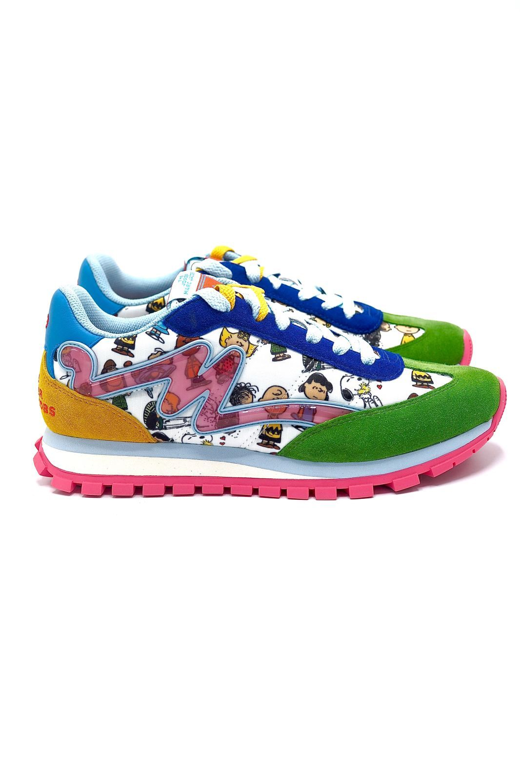 Marc Jacobs basket bas Multicolor femmes (MJACOBS-Runner  - THE JOGGER Peanuts) - Marine | Much more than shoes