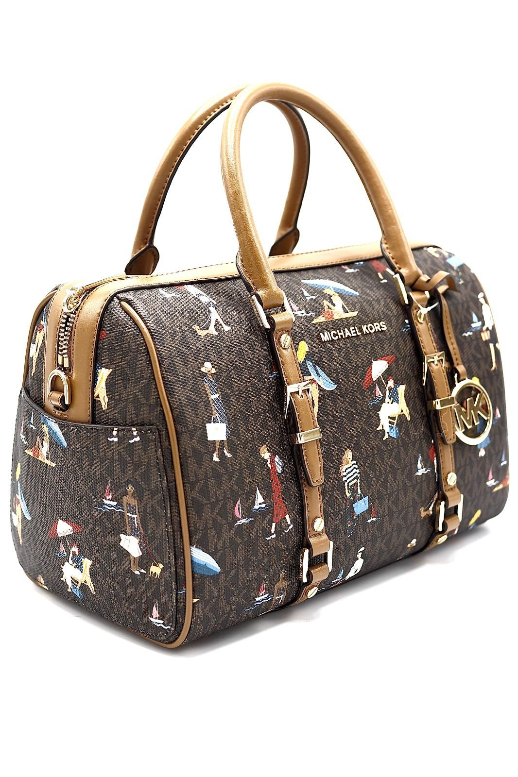 Michael Kors Accessoires sac Brun-multi femmes (MKB-Sac week end - S0048996212 sac weekend logos) - Marine | Much more than shoes
