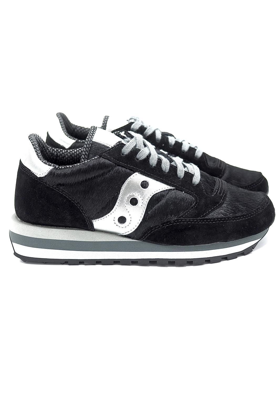 Saucony basket bas Noir femmes (SAUC-Runner Fashion Women - JAZZ Triple poil noir/noir) - Marine | Much more than shoes