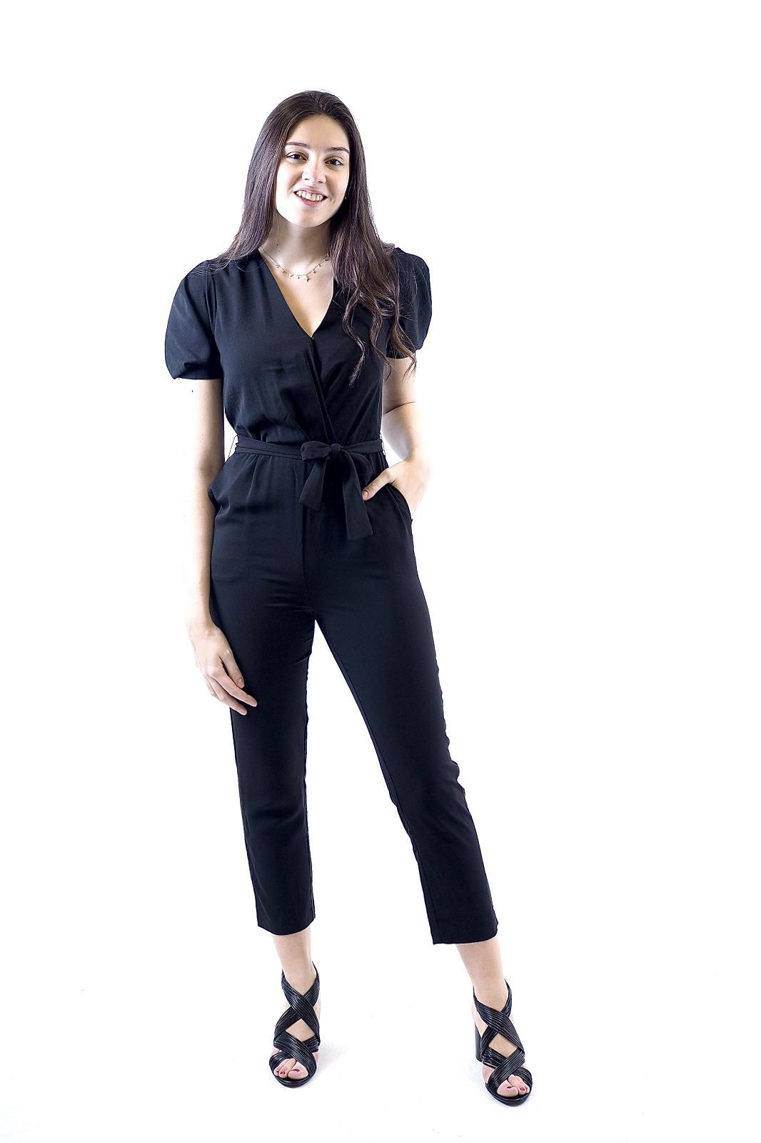 See U Soon jumpsuit Noir femmes (SUS-Jumpsuit - 91031 jumpsuit noir) - Marine | Much more than shoes