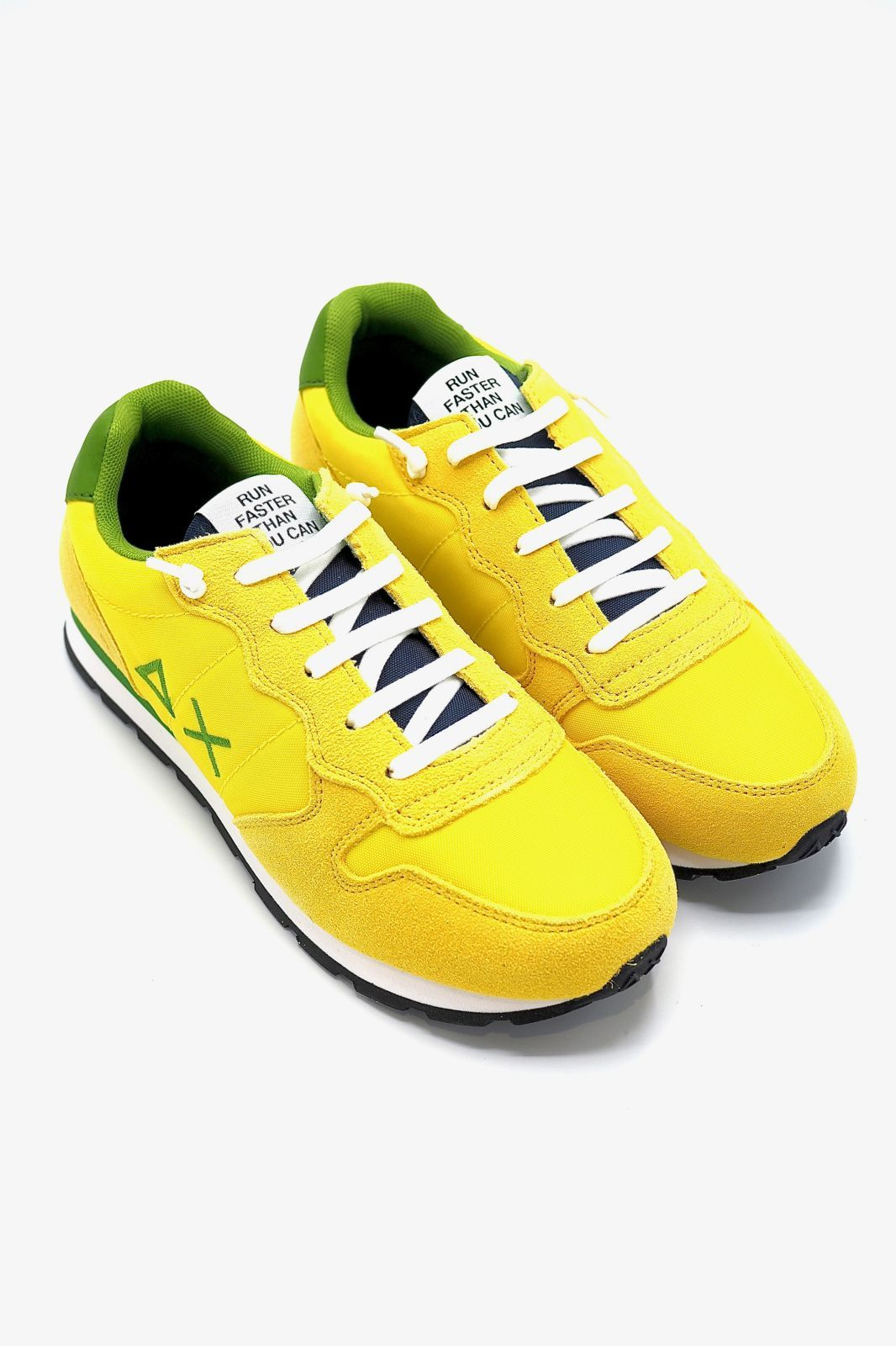 SUN68 basket bas Jaune hommes (SUN68-Jr-Runner  - Z30301 Jr jaune Brazil) - Marine | Much more than shoes