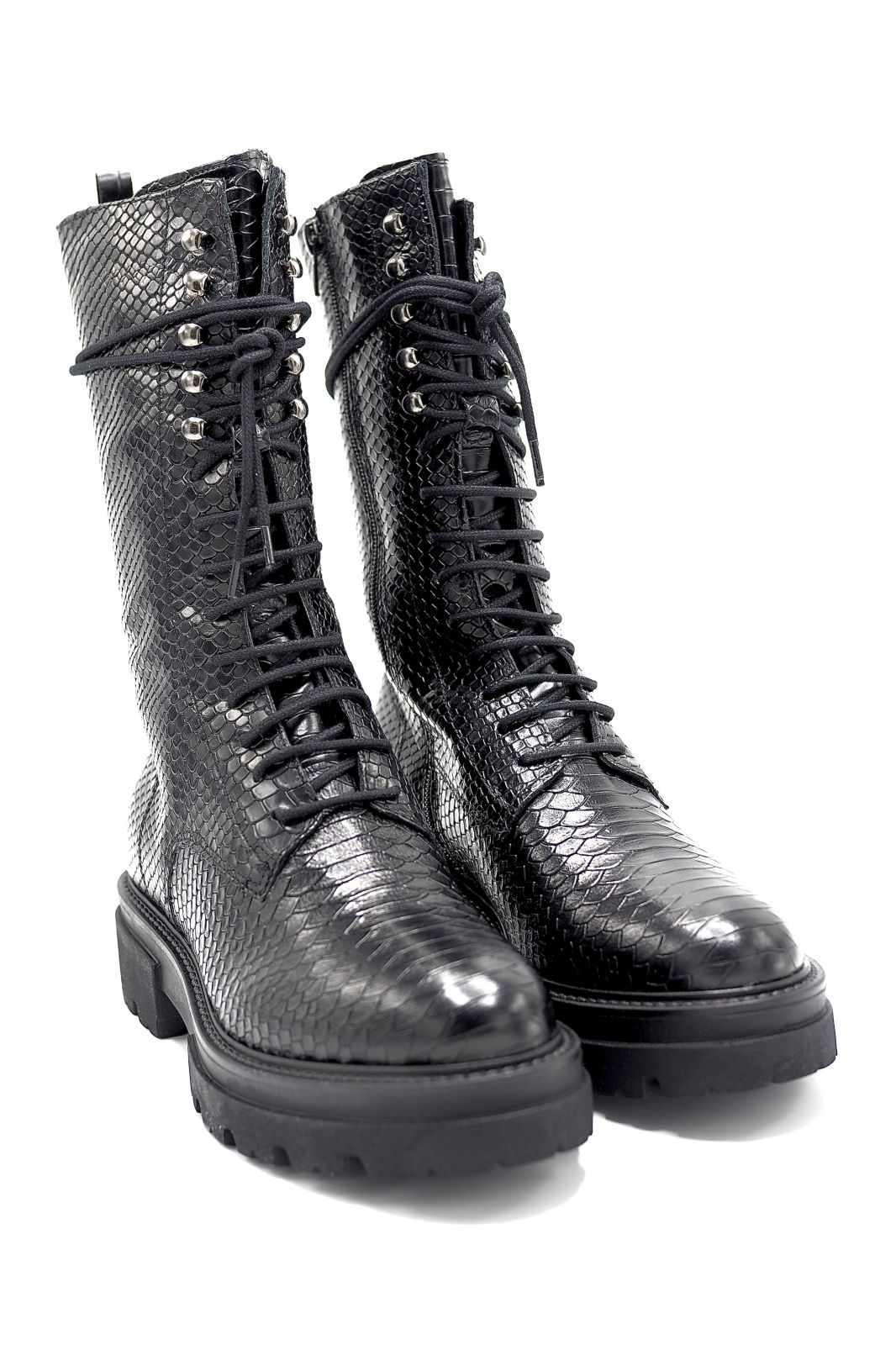 Sweet Lemon boots Noir femmes (SWL-Biker haute python noir - DOLYAN Biker haute noir) - Marine | Much more than shoes