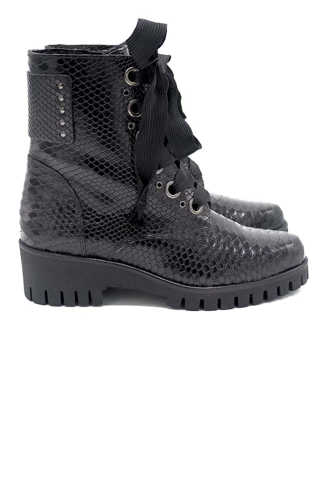 Sweet Lemon boots Noir femmes (SWL-Boots lacets noir - DASHA Boots lacets noir) - Marine | Much more than shoes