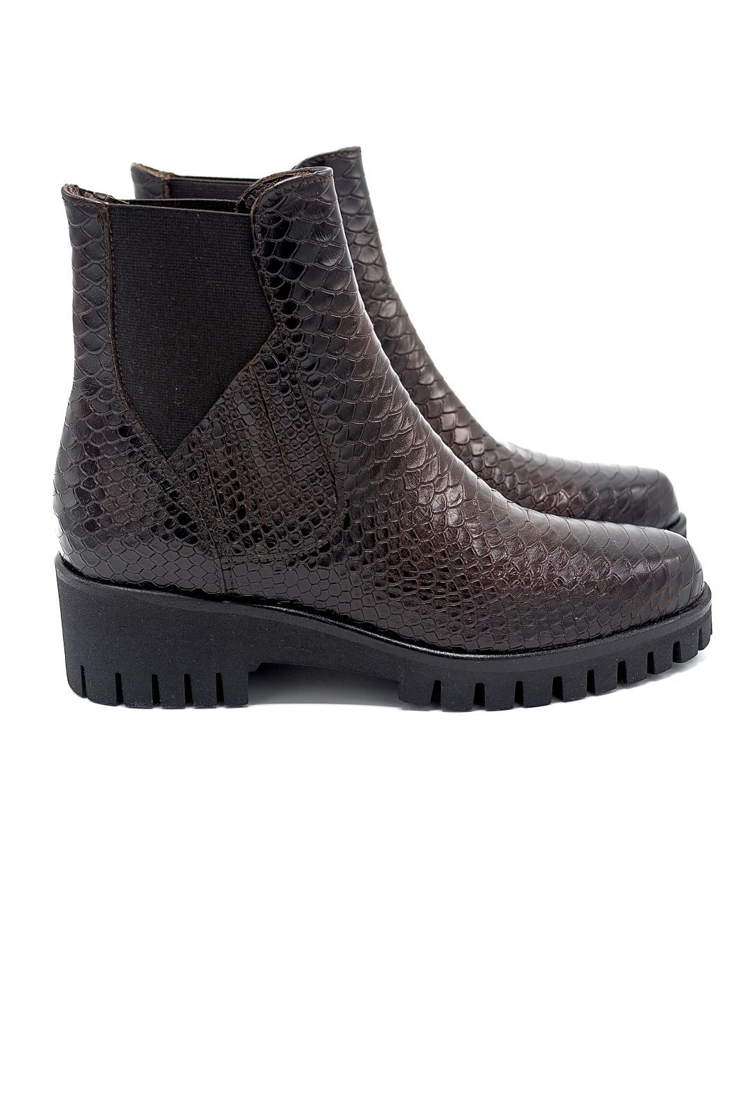 Sweet Lemon boots Brun femmes (SWL-Boots snake elastique - DAYLIN Booties python brun) - Marine | Much more than shoes